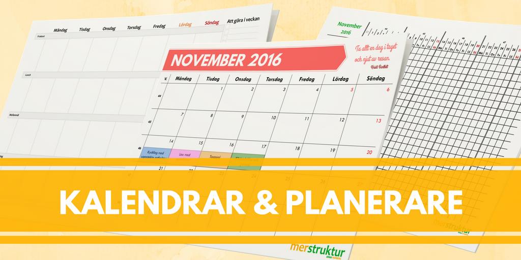 Kalendrar & planerare