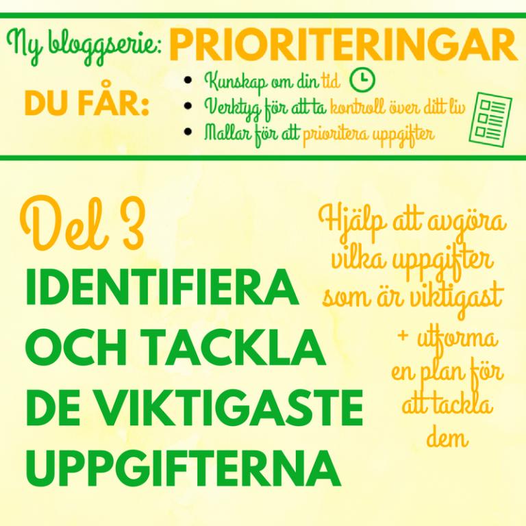 Prioriteringar – Identifiera och tackla de viktigaste uppgifterna