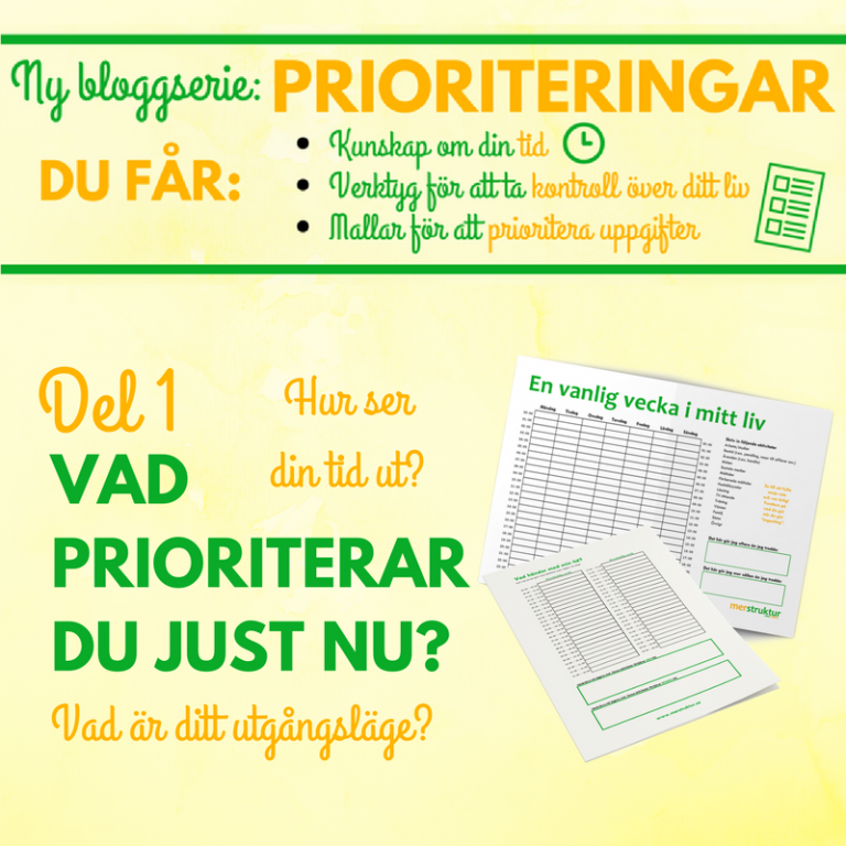 Prioriteringar – Vad prioriterar du just nu?