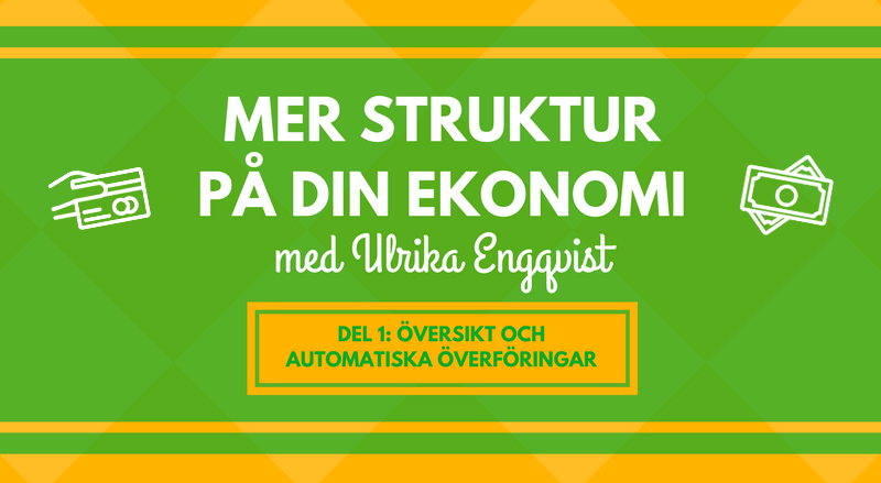 Få struktur på din ekonomi med automatiserade överföringar. merstruktur.se