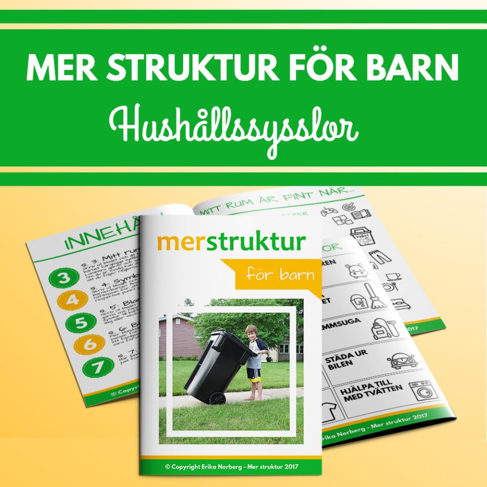 Praktiska hjälpmedel för att lära dina barn att hjälpa till hemma. merstruktur.se