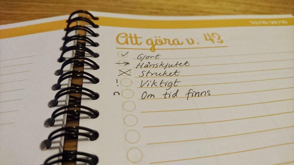 Vad jag planerar varje dag, vecka och månad för att ha koll på min tid och mina uppgifter. merstruktur.se