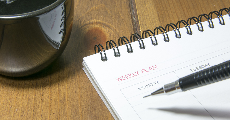 Vad du borde göra varje söndag för en målinriktad vecka. merstruktur.se