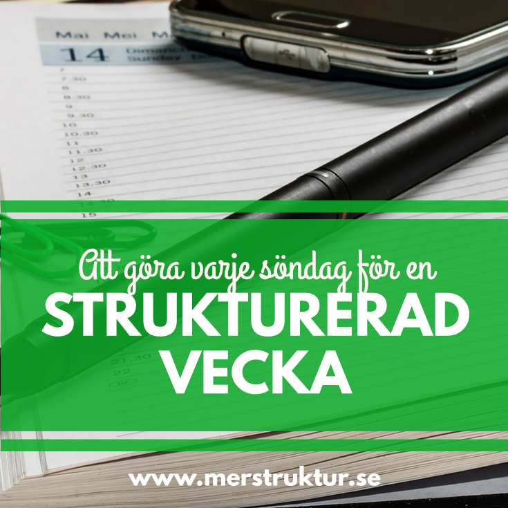 Vad du borde göra varje söndag för en välstrukturerad vecka