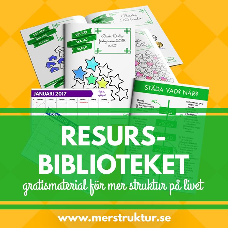 Mer strukturs resursbibliotek med hjälpsamma material