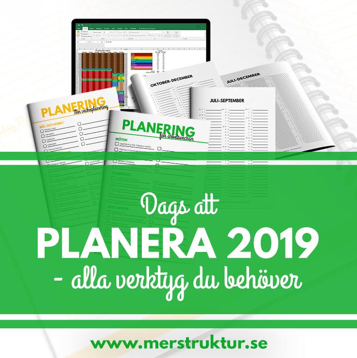 Dags att planera 2019 – alla verktyg du behöver