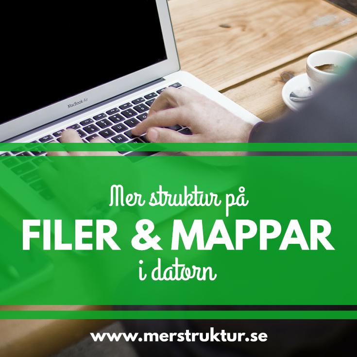 Mer struktur på dina filer och mappar i datorn