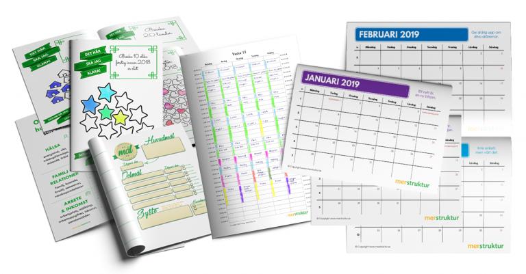 Kalenderblad och effektivt planeringsverktyg i Resursbiblioteket