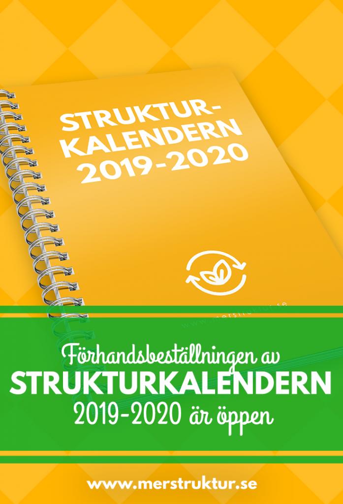 Förhandsbeställning av Strukturkalendern 2019-2020. Vad är nytt? merstruktur.se