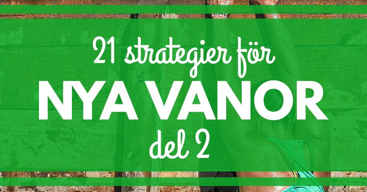 21 strategier för att etablera nya vanor från Gretchen Rubin. merstruktur.se