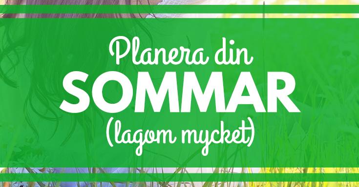 Hur du kan planera din sommar lagom mycket, dvs. utan att glömma återhämtning. merstruktur.se