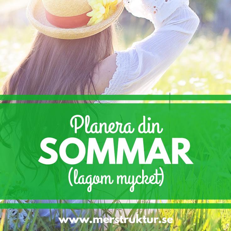 Planera din sommar