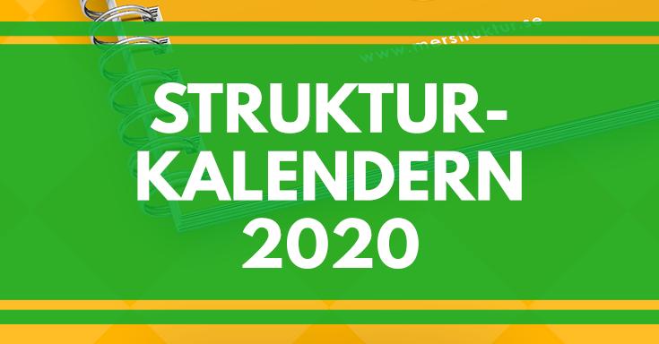 Nu kan du förhandsbeställa Strukturkalendern 2020!