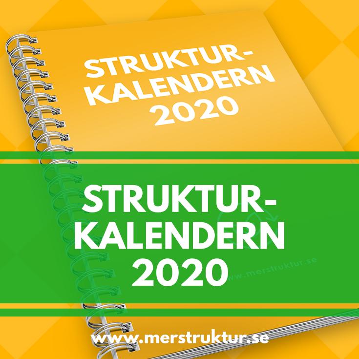 Förhandsbeställningen av Strukturkalendern 2020 är öppen!